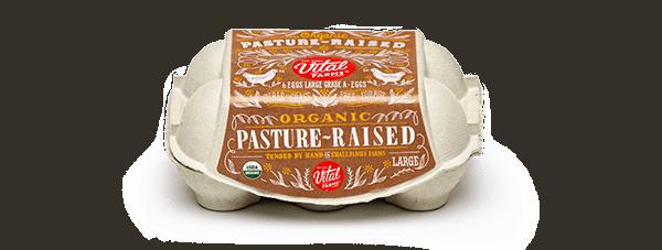 Pasture-Raised Organic Eggs 6 Ct Large Carton